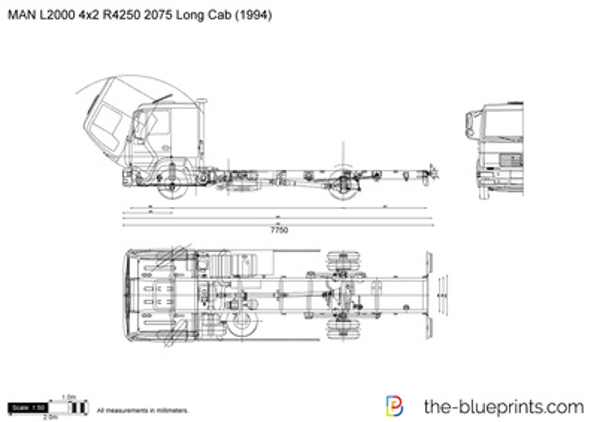 MAN L2000 4x2 R4250 2075 Long Cab
