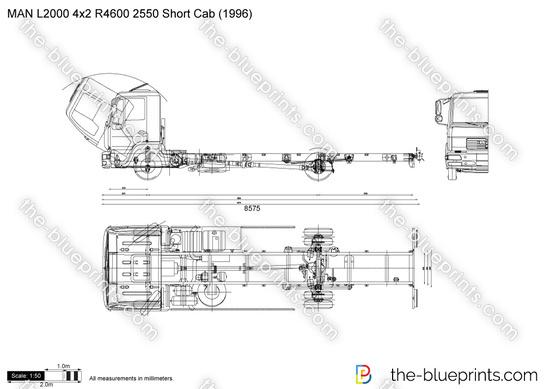 MAN L2000 4x2 R4600 2550 Short Cab