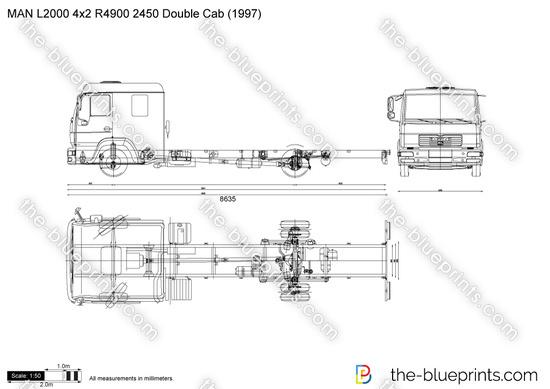 MAN L2000 4x2 R4900 2450 Double Cab