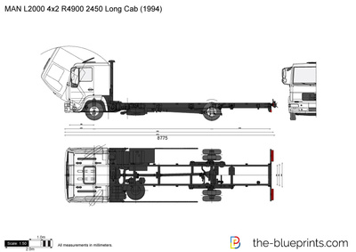 MAN L2000 4x2 R4900 2450 Long Cab