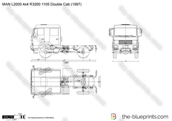 MAN L2000 4x4 R3260 1105 Double Cab