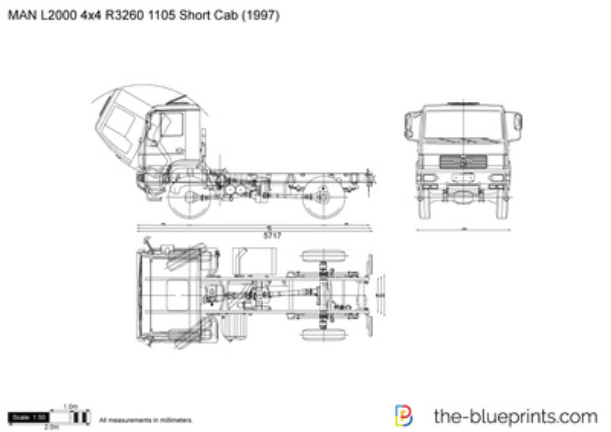 MAN L2000 4x4 R3260 1105 Short Cab