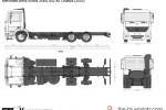Mercedes-Benz Actros 25xxL 6x2 45 Chassis (2003)