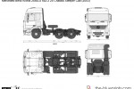 Mercedes-Benz Actros 2550LS 6x2-2 25 Chassis Sleeper Cab