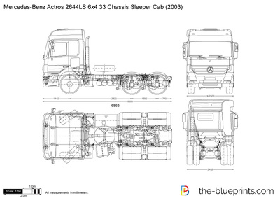 Mercedes-Benz Actros 2644LS 6x4 33 Chassis Sleeper Cab