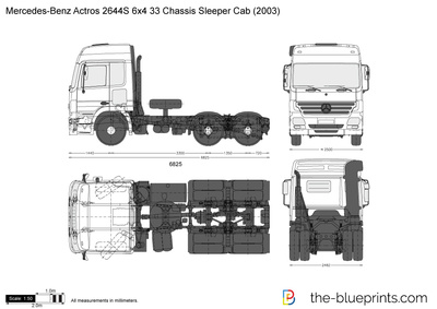 Mercedes-Benz Actros 2644S 6x4 33 Chassis Sleeper Cab