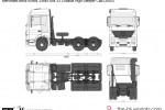 Mercedes-Benz Actros 3354S 6x4 33 Chassis High Sleeper Cab