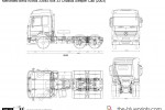 Mercedes-Benz Actros 3354S 6x4 33 Chassis Sleeper Cab