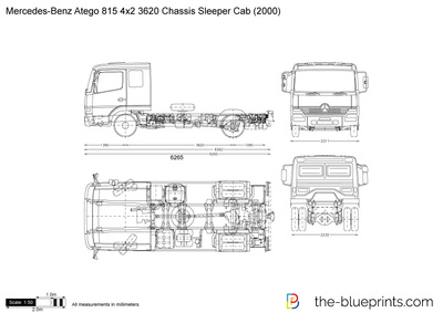 Mercedes-Benz Atego 815 4x2 3620 Chassis Sleeper Cab