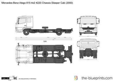 Mercedes-Benz Atego 815 4x2 4220 Chassis Sleeper Cab
