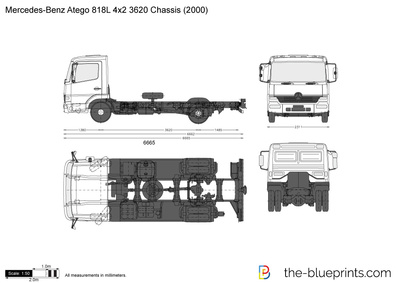 Mercedes-Benz Atego 818L 4x2 3620 Chassis