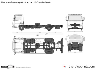 Mercedes-Benz Atego 818L 4x2 4220 Chassis