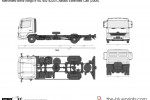 Mercedes-Benz Atego 818L 4x2 4220 Chassis Extended Cab