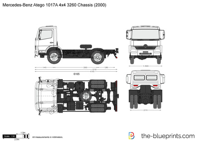 Mercedes-Benz Atego 1017A 4x4 3260 Chassis