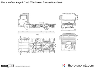 Mercedes-Benz Atego 917 4x2 3020 Chassis Extended Cab