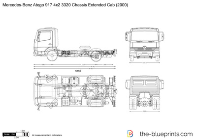 Mercedes-Benz Atego 917 4x2 3320 Chassis Extended Cab