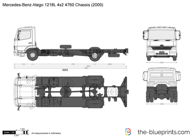 Mercedes-Benz Atego 1218L 4x2 4760 Chassis