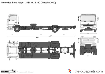 Mercedes-Benz Atego 1218L 4x2 5360 Chassis