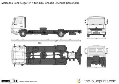 Mercedes-Benz Atego 1317 4x2 4760 Chassis Extended Cab