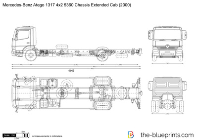 Mercedes-Benz Atego 1317 4x2 5360 Chassis Extended Cab