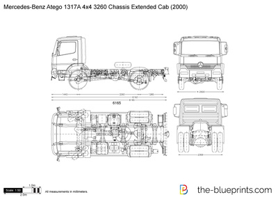 Mercedes-Benz Atego 1317A 4x4 3260 Chassis Extended Cab