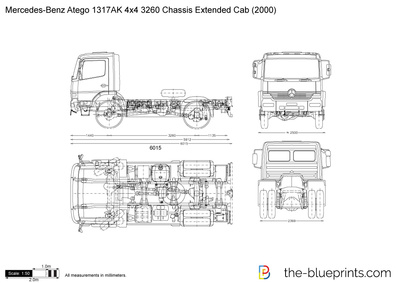 Mercedes-Benz Atego 1317AK 4x4 3260 Chassis Extended Cab