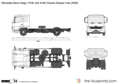 Mercedes-Benz Atego 1318L 4x2 4160 Chassis Sleeper Cab