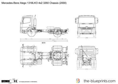 Mercedes-Benz Atego 1318LKO 4x2 3260 Chassis