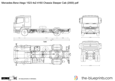 Mercedes-Benz Atego 1523 4x2 4160 Chassis Sleeper Cab