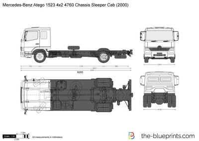 Mercedes-Benz Atego 1523 4x2 4760 Chassis Sleeper Cab