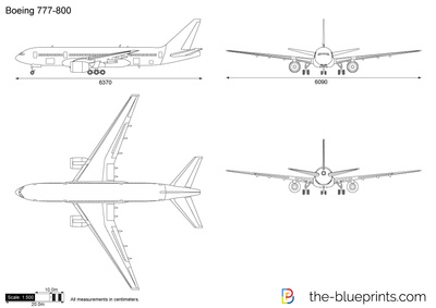 Boeing 777 800 Vector Drawing