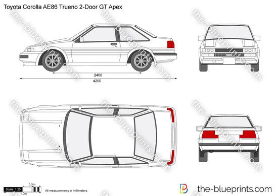Toyota Corolla AE86 Trueno 2-Door GT Apex