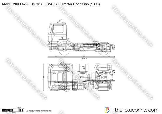 MAN E2000 4x2-2 19.xx3 FLSM 3600 Tractor Short Cab