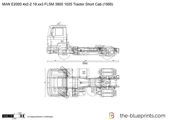 MAN E2000 4x2-2 19.xx3 FLSM 3800 1025 Tractor Short Cab