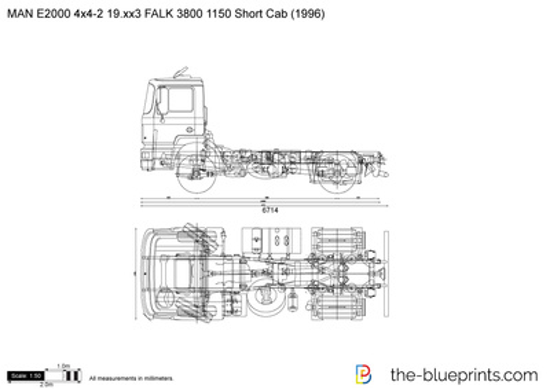MAN E2000 4x4-2 19.xx3 FALK 3800 1150 Short Cab