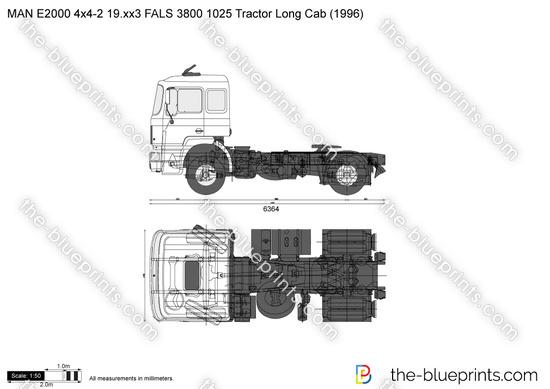 MAN E2000 4x4-2 19.xx3 FALS 3800 1025 Tractor Long Cab