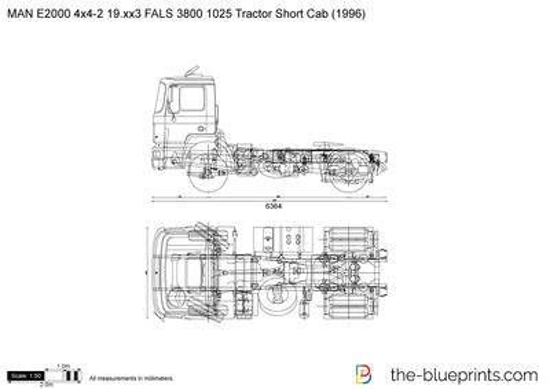MAN E2000 4x4-2 19.xx3 FALS 3800 1025 Tractor Short Cab