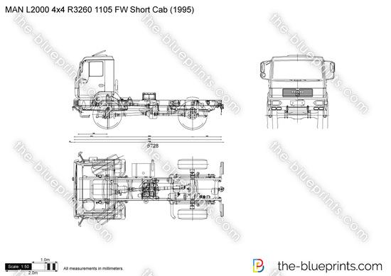 MAN L2000 4x4 R3260 1105 FW Short Cab