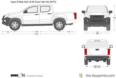 Isuzu D-Max 4x4 LS-M Crew Cab Ute (2013)