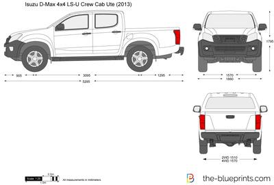 Isuzu D-Max 4x4 LS-U Crew Cab Ute (2013)