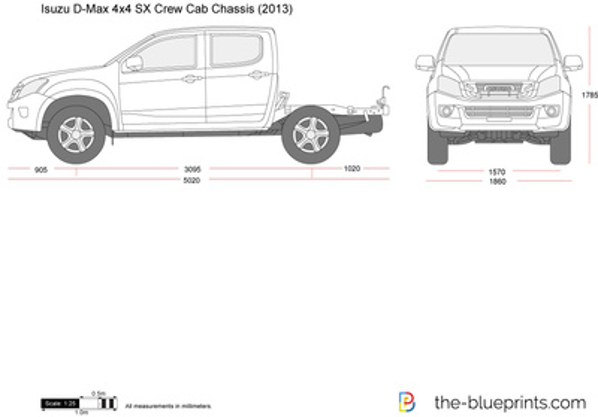 Isuzu D-Max 4x4 SX Crew Cab Chassis