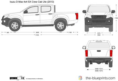 Isuzu D-Max 4x4 SX Crew Cab Ute