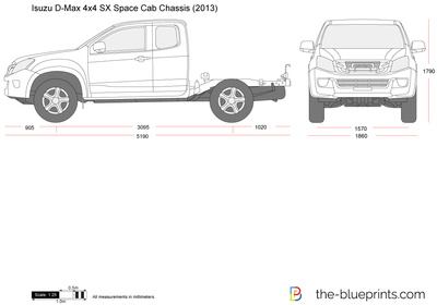 Isuzu D-Max 4x4 SX Space Cab Chassis