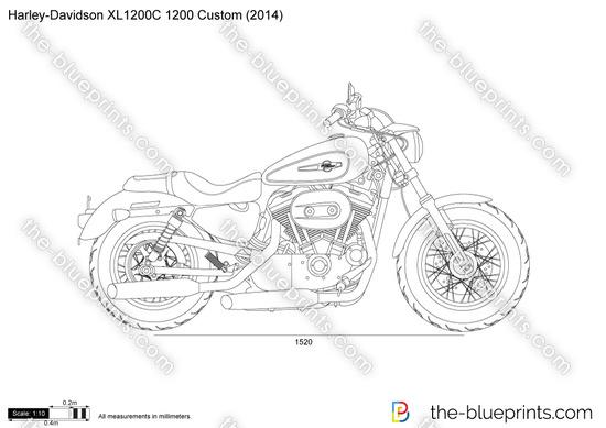 Harley-Davidson XL1200C 1200 Custom