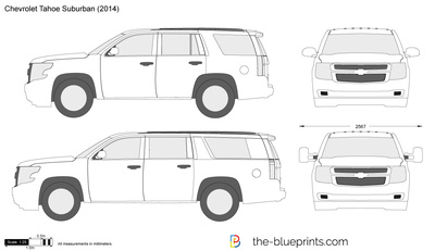 The-Blueprints.com - Vector Drawing - Chevrolet Tahoe Suburban