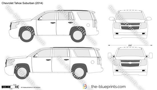 Chevy Explorer Van Price >> Chevrolet Tahoe Suburban vector drawing