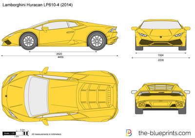 The Blueprints Com Vector Drawing Lamborghini Huracan