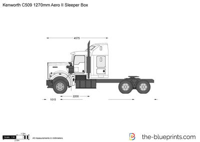 Kenworth C509 1270mm Aero II Sleeper Box