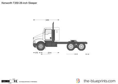 Kenworth T359 28-inch Sleeper