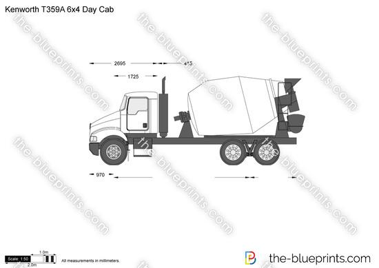Kenworth T359A 6x4 Day Cab